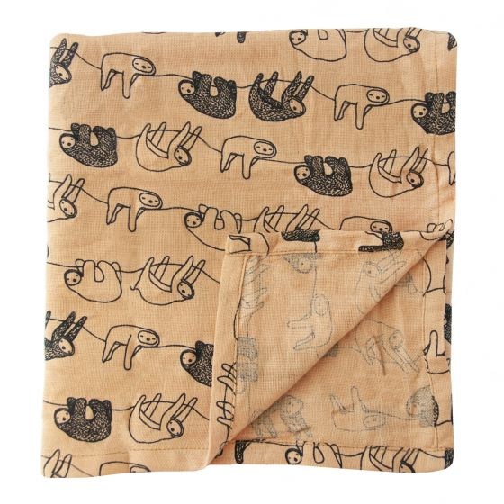 Muslin cloths- Silly Sloth (60 x 60cm) - set of 3 pieces