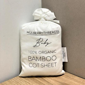 Organic Bamboo Cot Sheets (White) 有機竹棉床單(白色)