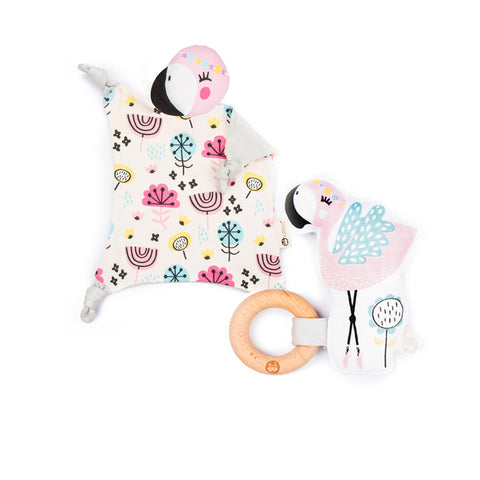 Coco Blankie + Rattle Gift Set