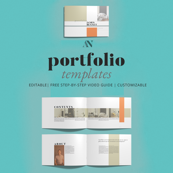 Interior Design Portfolio Templates coming soon to the shop