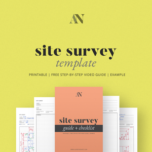 Site Survey Template - Printable - [product_description] - Audrey Noakes Shop