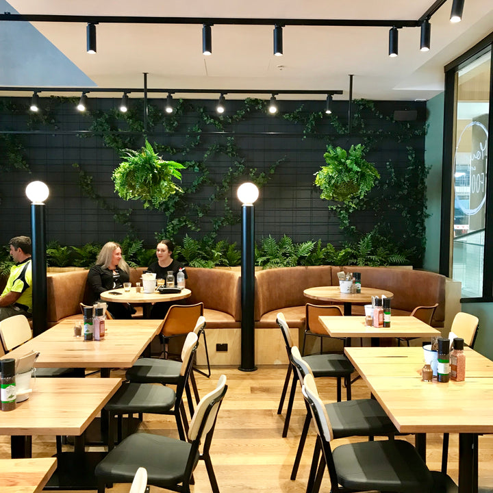 Cafe - Green Wall & Hanging Baskets
