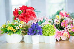 fake flower arrangements are popular decor items