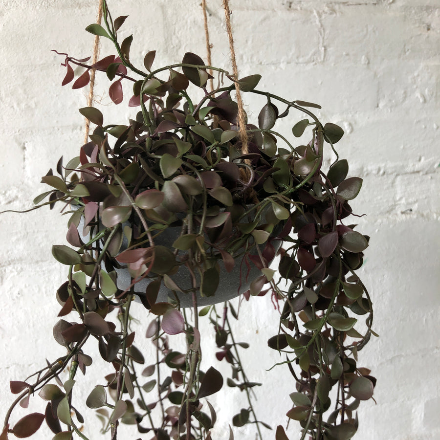 Artificial Hanging Plant & Pot