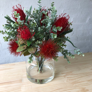 Red Natives & Eucalyptus - Glass
