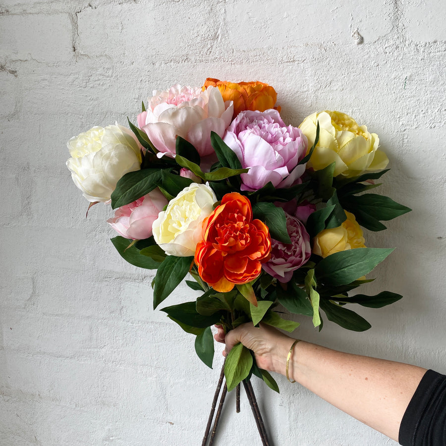 Artificial Peony Stems (Multiple Colours)
