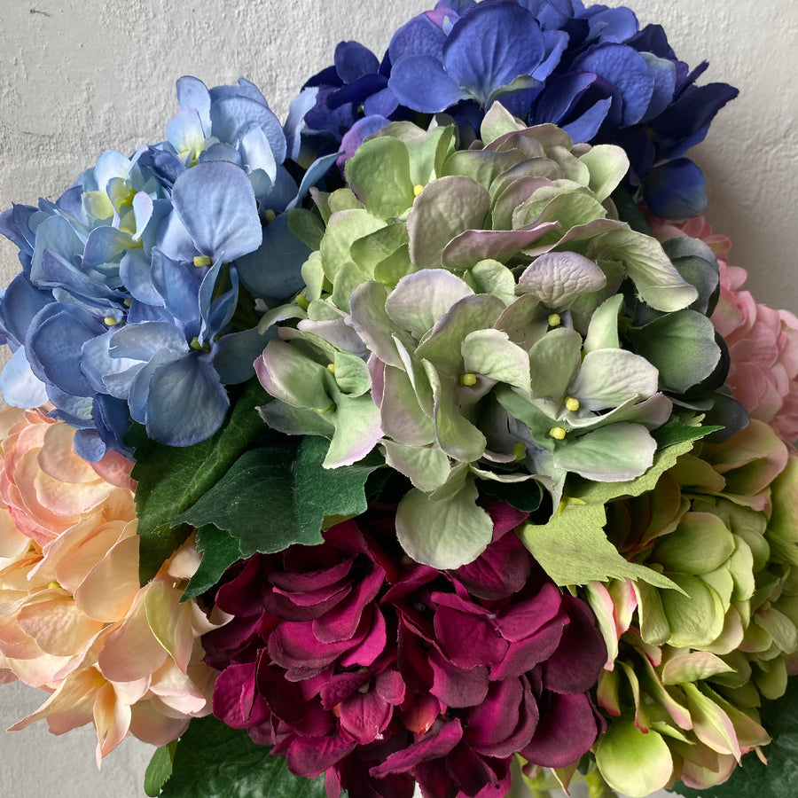 Artificial Hydrangeas (Mixed Colours)