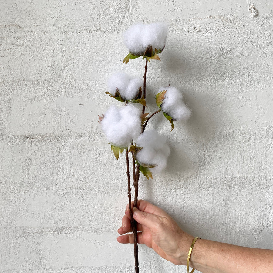 Artificial Cotton Flower Stem