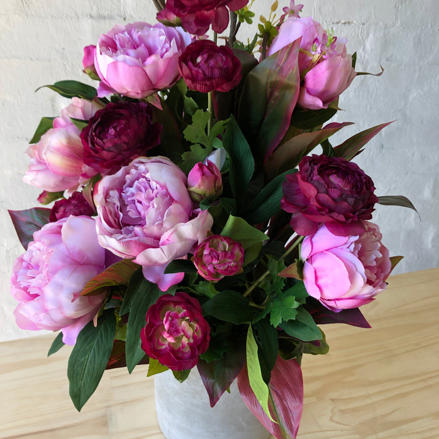 Pink Peonies, Orchids & Blossom