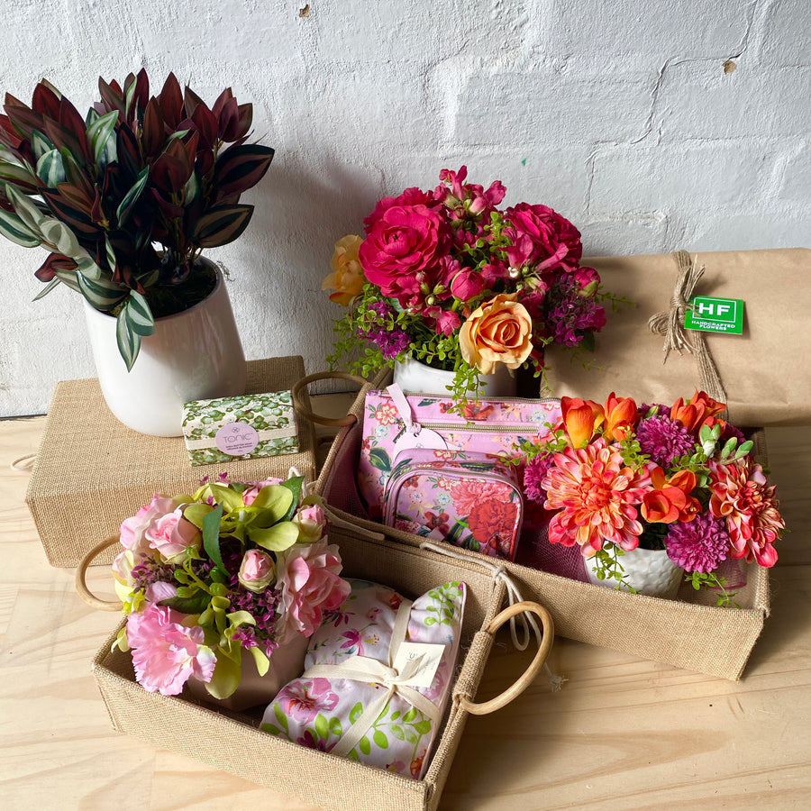 Aus Wide Gift Delivery | Faux Florals + Cosmetic Bag