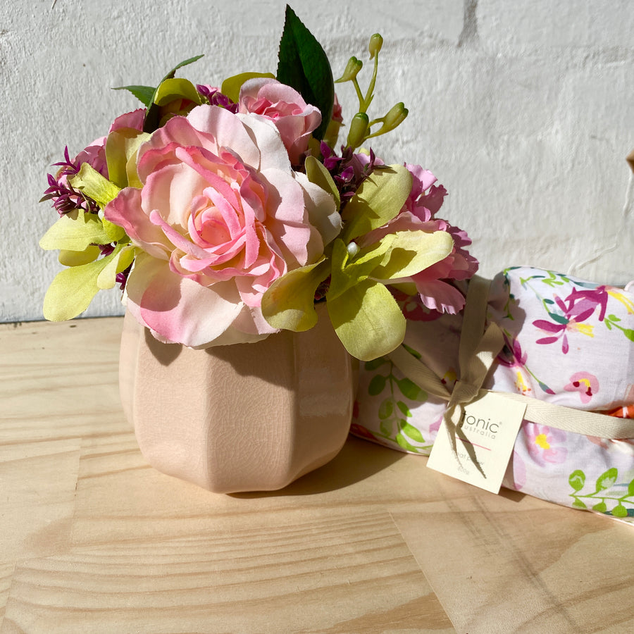 Aus Wide Gift Delivery | Faux Florals + Heat Pillow