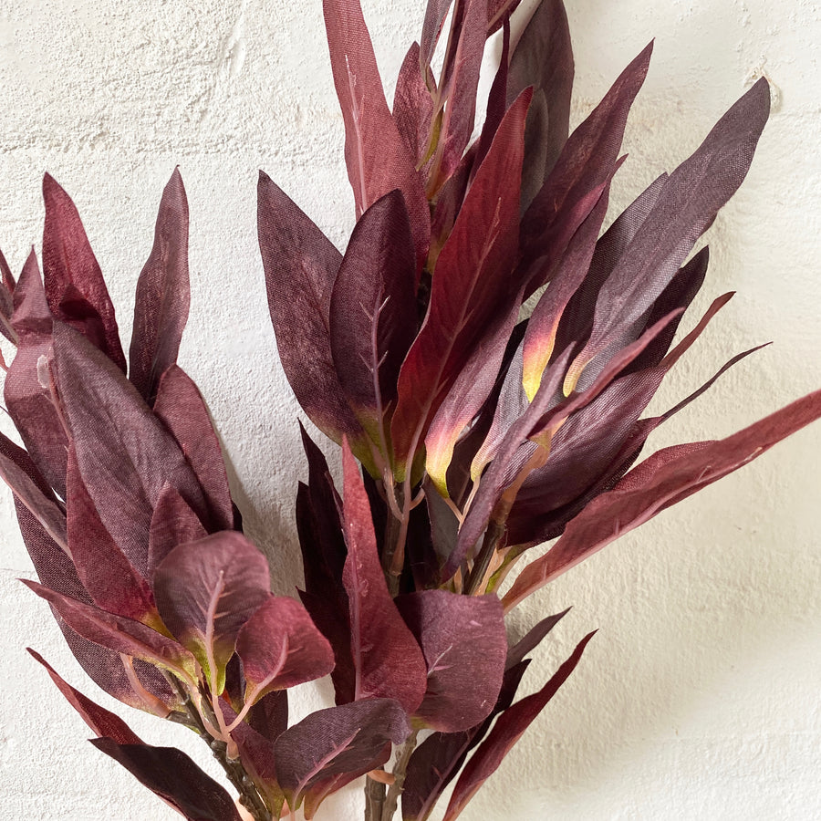 Artificial Leaf Bush (Maroon & Champagne)