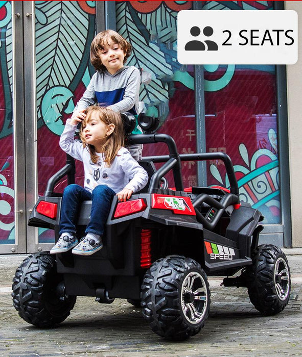 Kids Electric Ride On Buggy-S2588-24V-red Car* 2 Leather Seats*Rubber Wheels*24 Volts*2 Motors - 200 Watts each