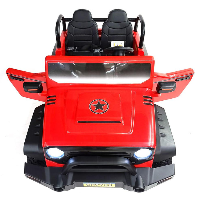 Kids Electric Ride On Car BJ9938-Red Battery Operated 4 motors 3 Speed 2 Seat FM Radio SUV OFF-ROAD Style
