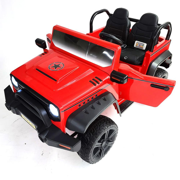 Kids Electric Ride On Car Jeep BJ9938-Red Battery Operated 4 motors 3 Speed 2 Seat SUV OFF-ROAD Style