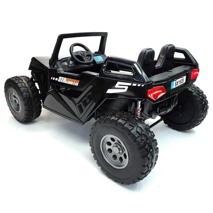 Kids Electric Buggy-sx1928-MP4-Black Ride On Car*2 Seats*24 Volts*MP4 TV Screen*Rubber Wheels