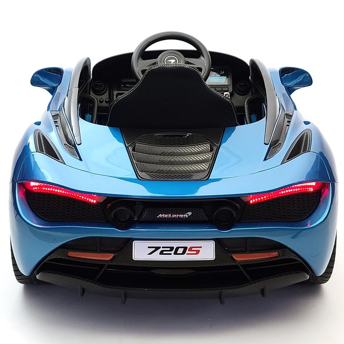 McLaren 720s Blue 12 Volt Toddler Ride On Car 2.4G Remote Control 1 Seat Vertical Open Able doors