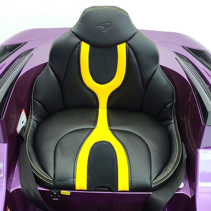 McLaren 720S- Purple 12 Volt Toddler Ride on Car 2.4G Remote Control Open Able Vertical doors