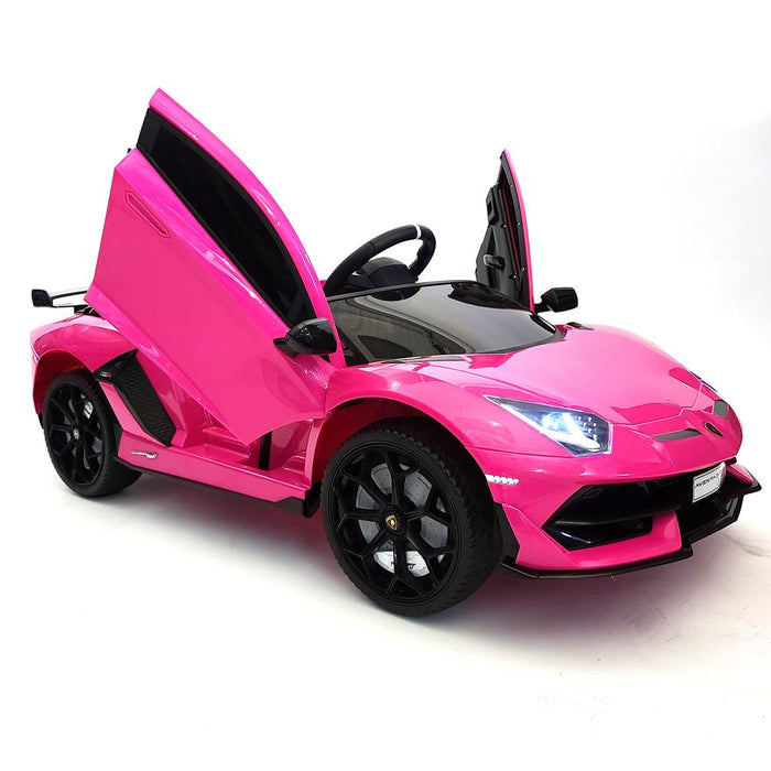 Lamborghini Ride On Car BJH338 Pink 12 Volt Rubber Wheels 1 Leather Seat