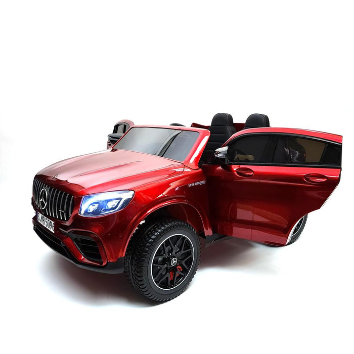 Battery Operated Mercedes GLC 63S MP4 TV Screen Red Kids Electric Ride On CAR 2 leather Seats Rubber Wheels 3 Speed