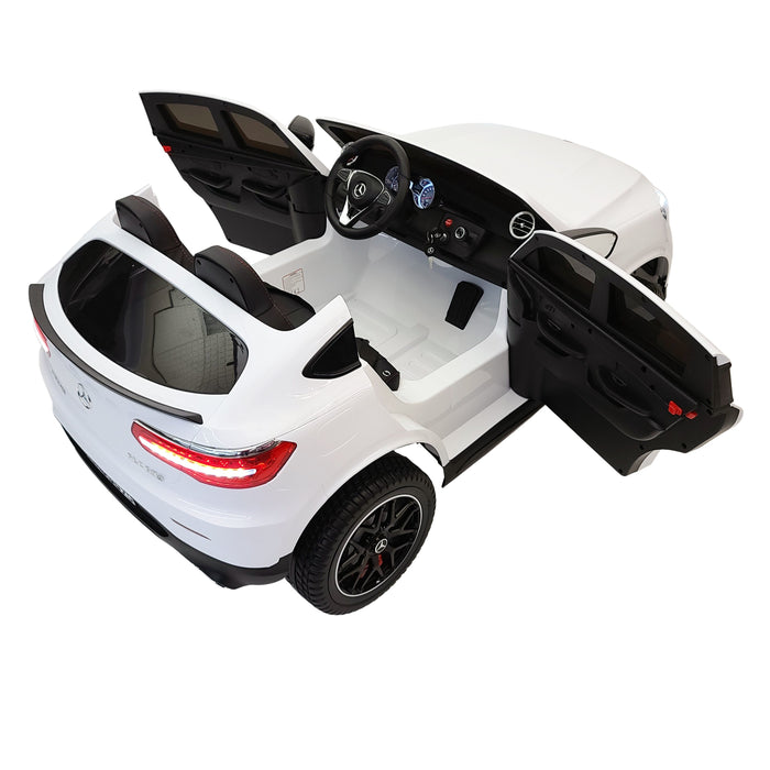 Merceedes GLC 63S XMX608 white Electric Ride On Car 2 Seats Rubber Wheels