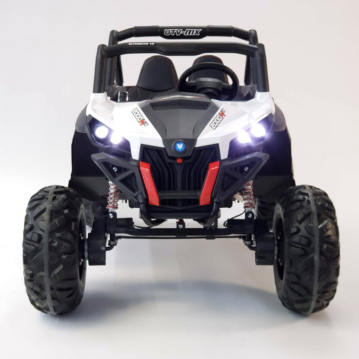 Ride On Buggy XMX603 Electric  Car White 2 Seats Rubber Wheels Double Batteries 3 Speed