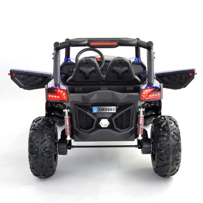 Copy of Copy of Buggy XMX603 MP4 BLUE  Kids Electric Ride On Car 2 Seats Rubber Wheels 4 Motors