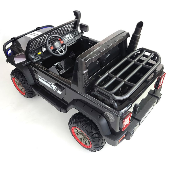Monster Truck FD AO26- Black Kids Electric Battery Operated XXL SUV With 2 Seats .