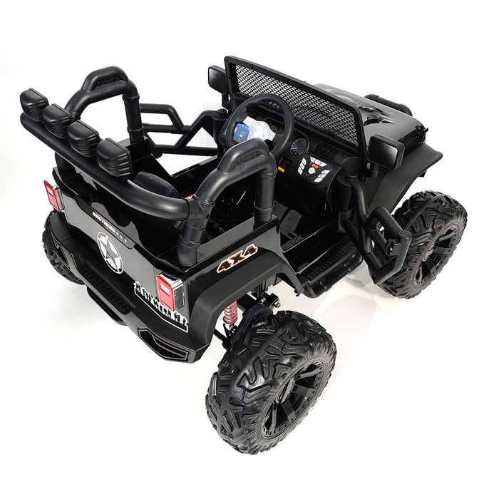 Ride On Car 24 Volt 2 Leather Seats 2 Motors-200 watts TV Screen for kids 2 to 5 years old.