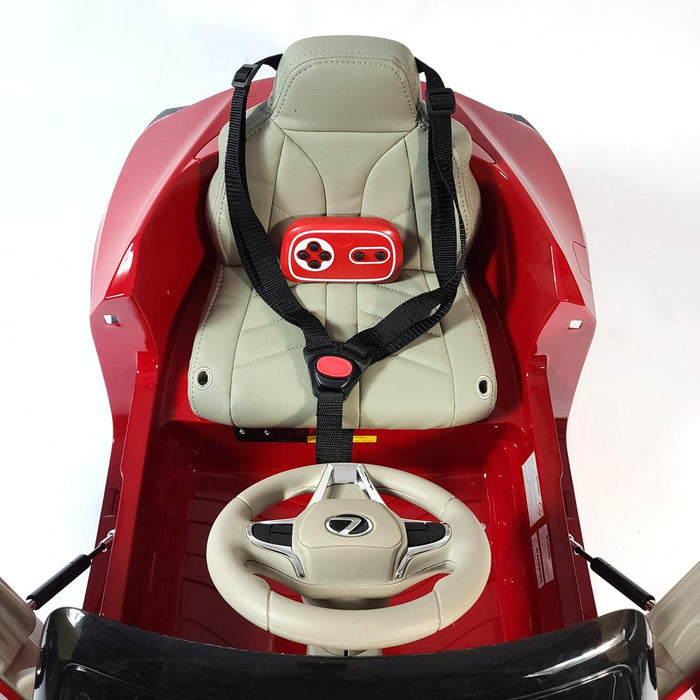 Ride On Lexus JE1618-Red 2 Motor EVA Rubber Wheels 1 Leather Seats 2.4 G Remote Control Kids 1 to 3 years old.