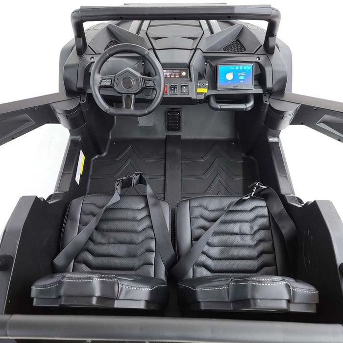 Buggy-A032-black Electric Ride On Buggy 24 volt 4 Motors- 60 Watts 2 Seats EVA Rubber Wheels