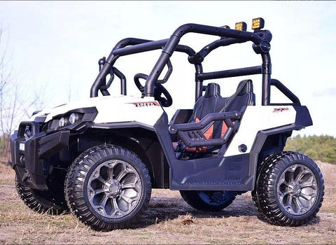 Buggy 7988 White Kids Electric Ride On UTV Car*4x4*2.4G Remote Control*2 Leather Seats*Rubber Wheels*USB*MP3*3 Speed .