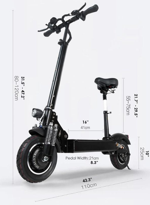 Electric Scooter for adults  s-H10  52 Volts 18 AH battery  ,Two Motors 3200 W   Up to 40 Mph (65 kmh)  Distance up to 37 ml (60 km)