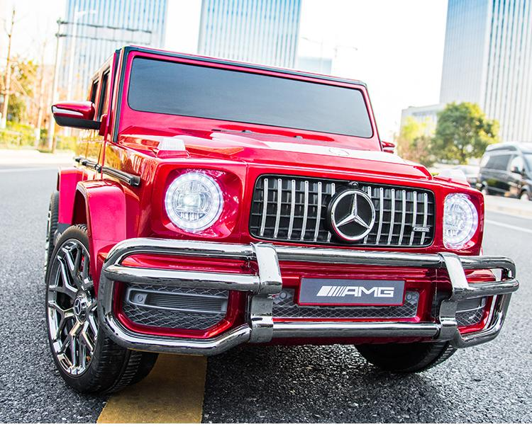 Copy of Kids Power  Electric Ride On Mercedes AMG Car -S 307 real paint RED color -24 Volts 2 leather seats EVA Wheels*2.4G Remote Control