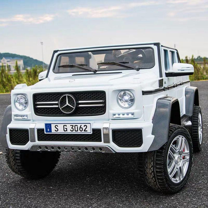 Copy of Kids Electric Ride On Mercedes G 650 Maybach WHITE Paint Remote Control Riding Toy Car *4 Motors*2 Large Leather Seat TV Screen *Remote Control