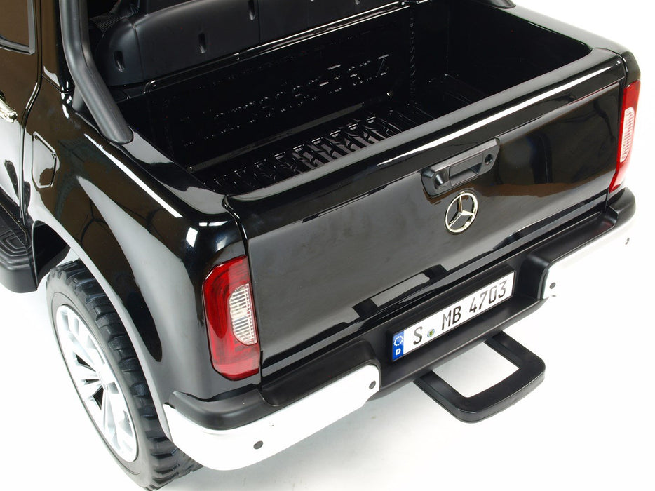 Electric Ride On Mercedes MB-XMX606-black EVA Rubber Wheels 2 Leather Seats 4 Motors MP4 TV SCREEN