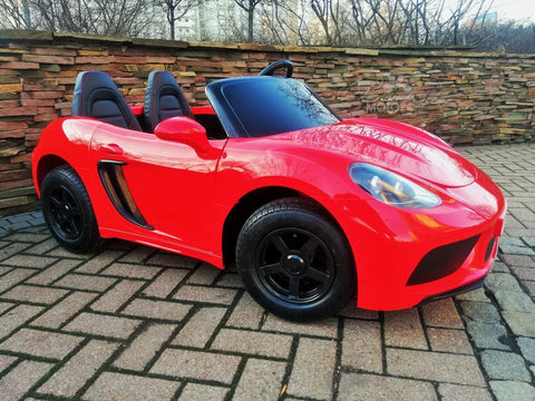 Super Car XXL PANAMERA RED - 24Volt ,SUPERPOWER with 180 Watt  brushless motor NOW KIDS CAN DRIVE with PARENTS!!!