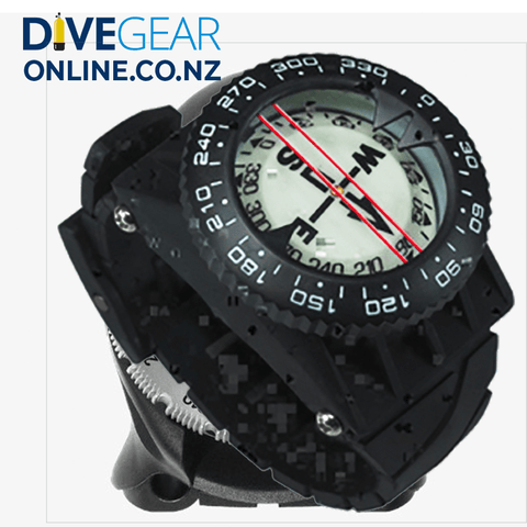 Quest C Compass with wrist and hose mounts