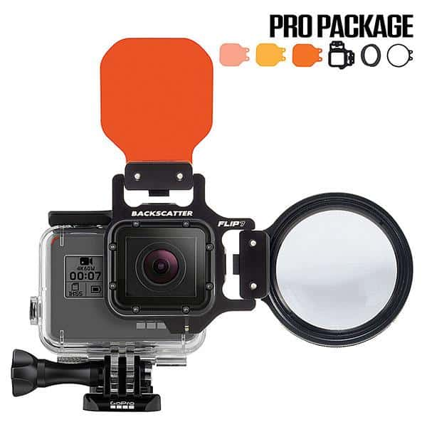 Backscatter Flip 6 Pro for GoPro with Macromate 15+