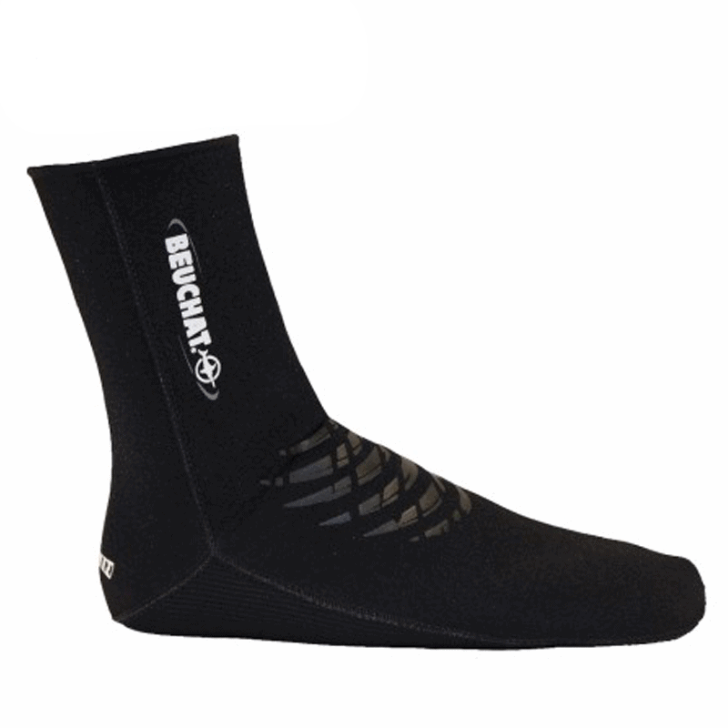 Beuchat Elaskin 2mm and 4mm Neoprene Socks with Supratex Sole