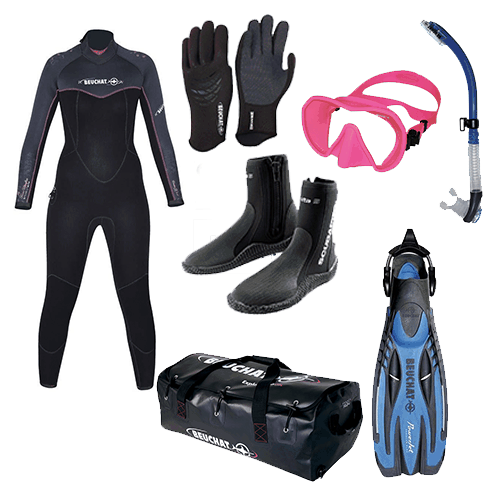 Beuchat womens wetsuit package