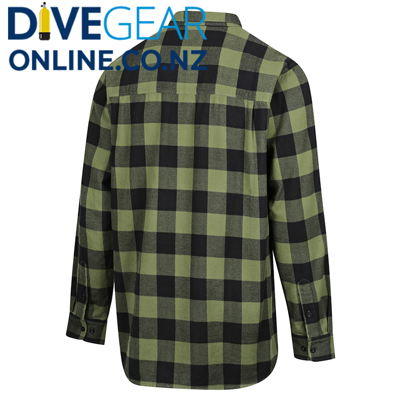 Ridgeline Mens Organic Green Check Shirt