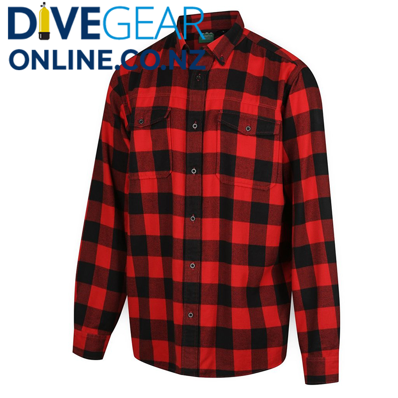 Ridgeline Mens Organic Red Check Shirt