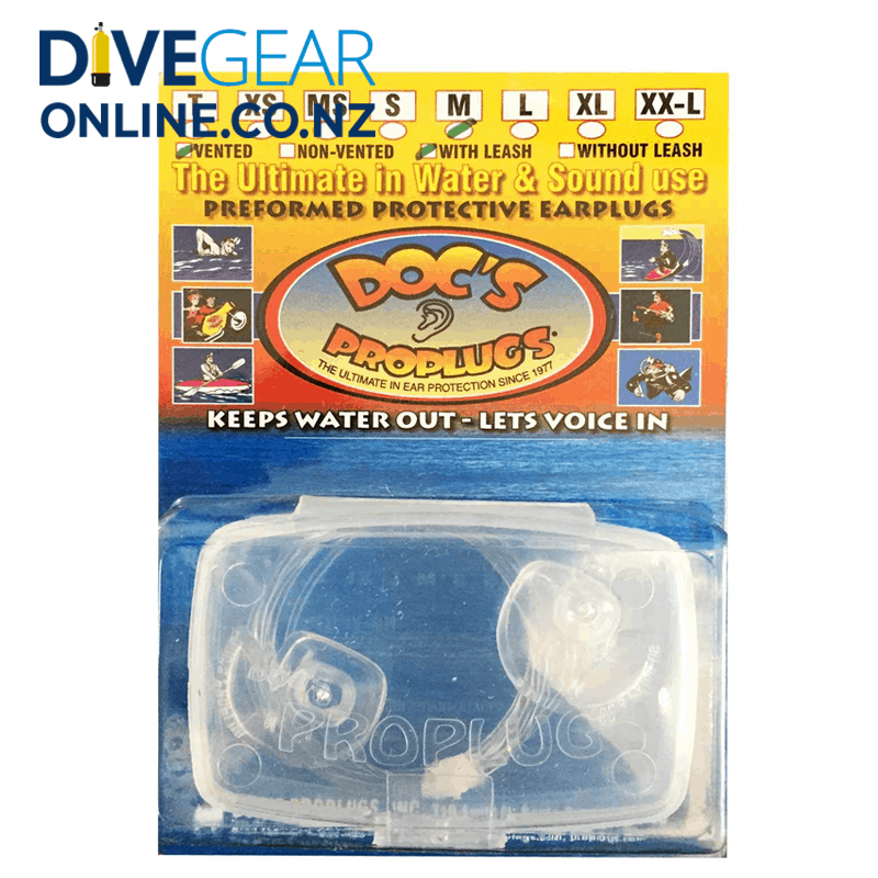 Doc's Pro Plugs - Vented Plugs with Leash