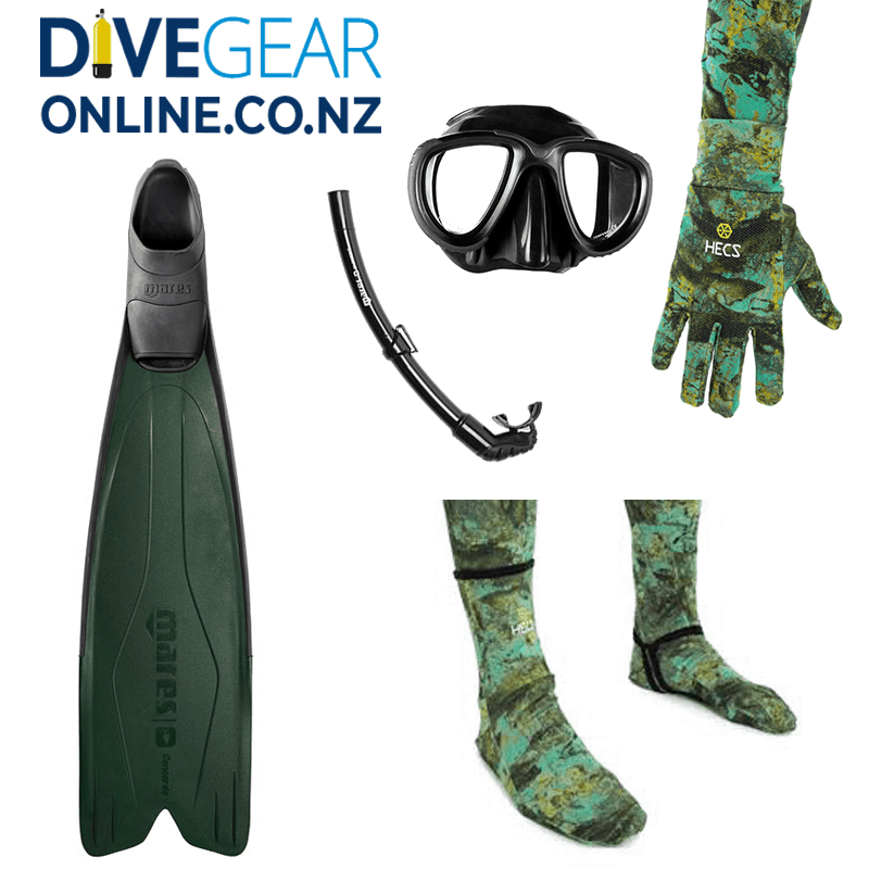 Freedive / Snorkel Set - Wide foot