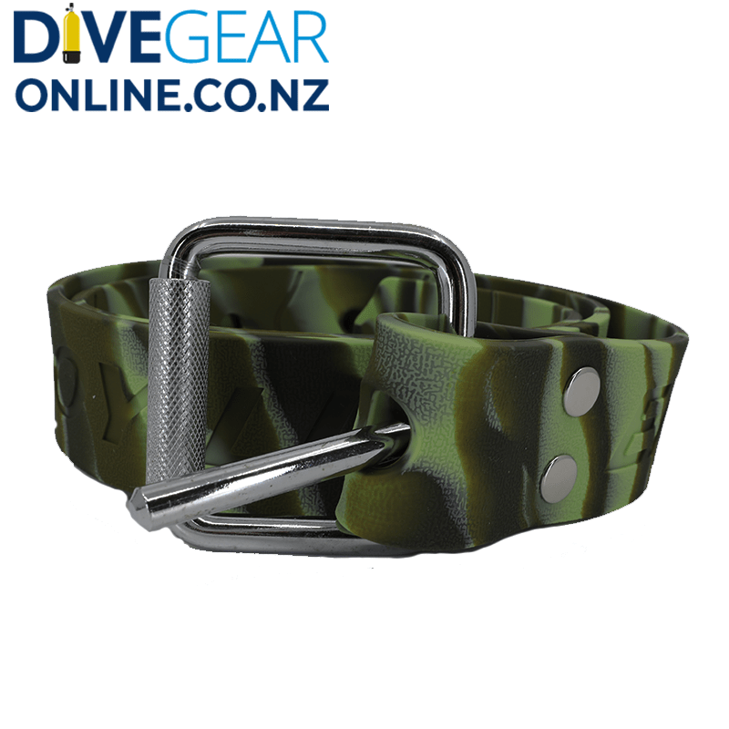 Coloured Rubber Weight Belt with Marseille Buckle