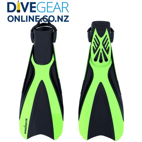 Prodive Open Heel Fins with Bungee Straps