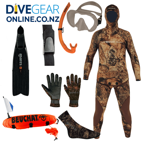 Freediver Ultimate Camo Package - Wide Foot Fins