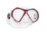 Scubapro Spectra Mini Mask Clear Red with Free Sea Buff