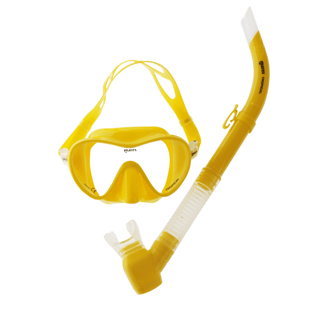 Mares Tropical Adult Mask and Snorkel Set Yellow
